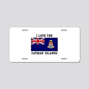 I Love Cayman Islands Aluminum License Plate